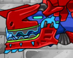 Dino Robot: Tyrano Red and Tricera Blue